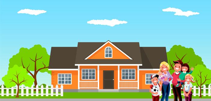 Familie med bolig