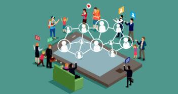 Netvaerk paa sociale medier
